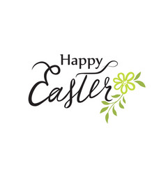 happy easter greeting card holiday bakground vector image
