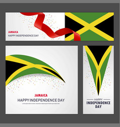 Happy jamaica independence day banner and vector