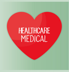 heart with healthcare icon vector image