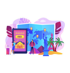 Hospitality and travel clubs concept vector