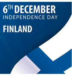 Independence day of finland flag and patriotic vector