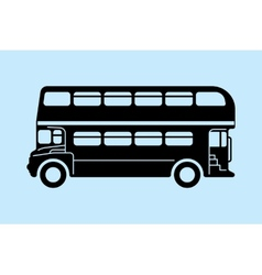 London bus silhouettes vector