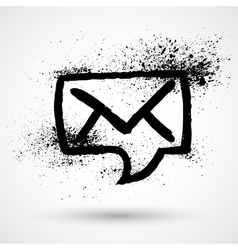 Mail Envelope in speech bubble icon vector image