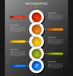 modern infographics fashion of five options vector image