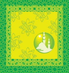 moslem background vector image
