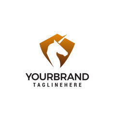 pegasus head logo design concept template vector image