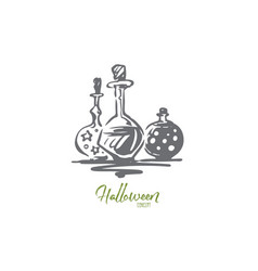 poison halloween glass potion holiday concept vector image