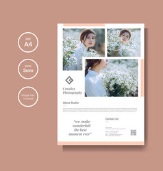 professional photography flyer template vector image