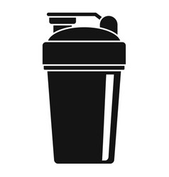 Protein shaker icon simple style vector