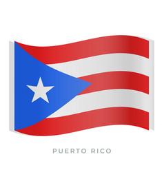 Puerto rico waving flag icon vector