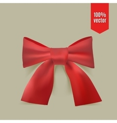 Realistic red bow vector