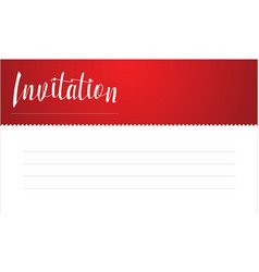 Red invitation card style collection vector