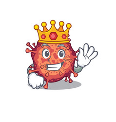 Royal king contagious corona virus cartoon vector