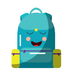 school backpack kawaii cartoon character vector image