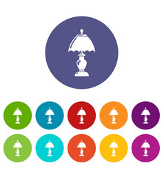 shade lamp icon simple style vector image