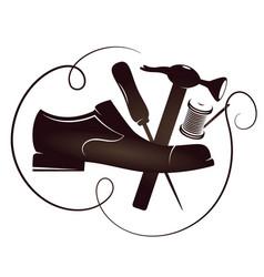 Shoe repair silhouette vector