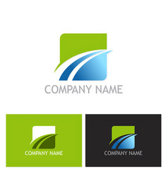 square loop abstract company logo vector image