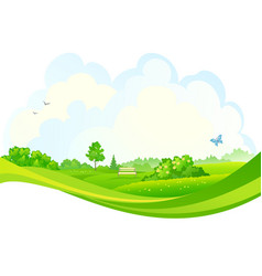 summer park design vector image