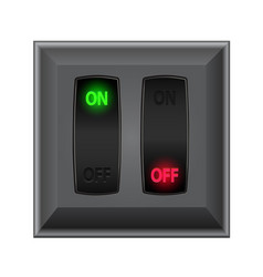 Switches in on and off vector
