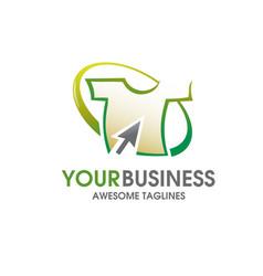 T-shirt online store logo vector