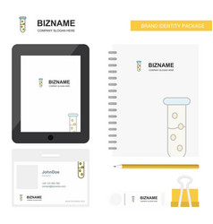 test tube business logo tab app diary pvc vector image