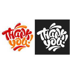 thank you lettering set vector image