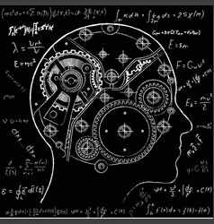 The mechanism of human thinking it is depicted in vector