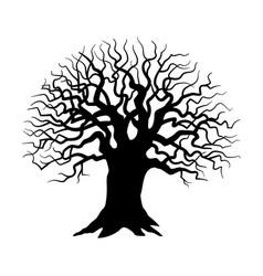 Tree silhouette sinister gloomy tree vector