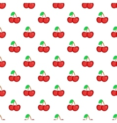 Two cherries pattern cartoon style vector