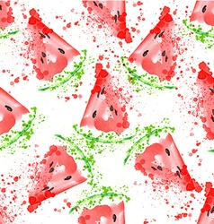 Watermelon seamless pattern with watermelon vector