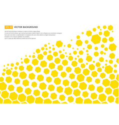 yellow hexagon pattern concept design abstract vector image vector image