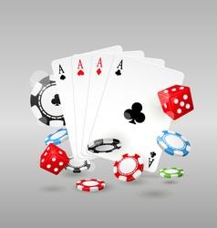 Gambling and casino symbols - poker chips vector