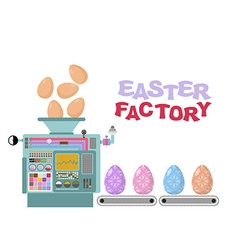 Easter factory Production of beautiful eggs vector image vector image