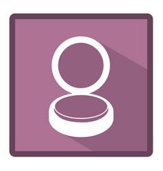 emblem powder makeup icon vector image vector image