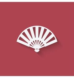 fan design element vector image