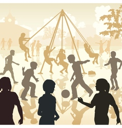 Playground kids vector
