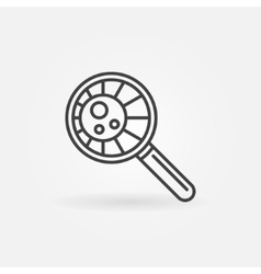 Virus in magnifying glass vector image vector image