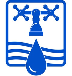 water drop and spigot blue icon vector image vector image