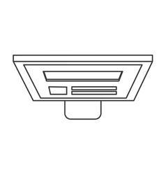 computer monitor topview icon vector image