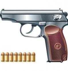 machine pistol vector image