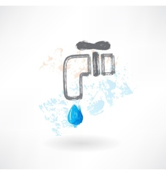 tap water grunge icon vector image