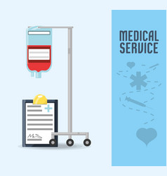 blood transfusion tool with diagnostic vector image vector image