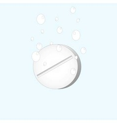 drug dissolved in water with gas bubbles vector image
