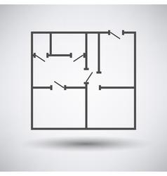 Flat plan icon vector image