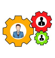 human resources icon icon cartoon vector image vector image