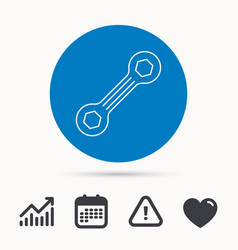 spanner tool icon repairing service sign vector image