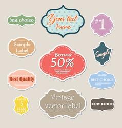 vintage label set for web vector image