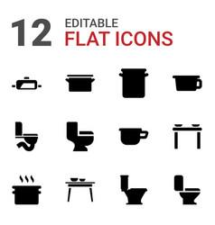 12 pan icons vector