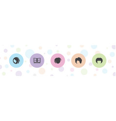5 different icons vector
