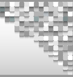Abstract background of gray squares in the corner vector image